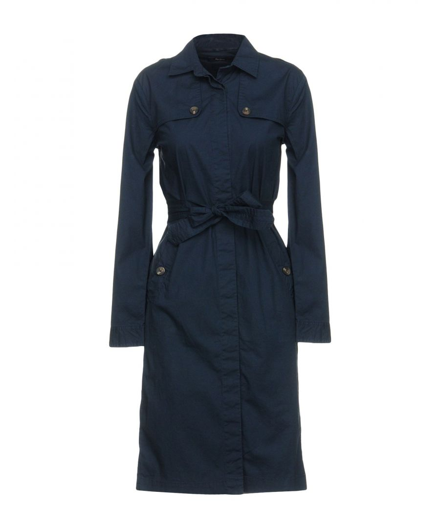 Image for Pepe Jeans Dark Blue Cotton Belted Shirt Dress