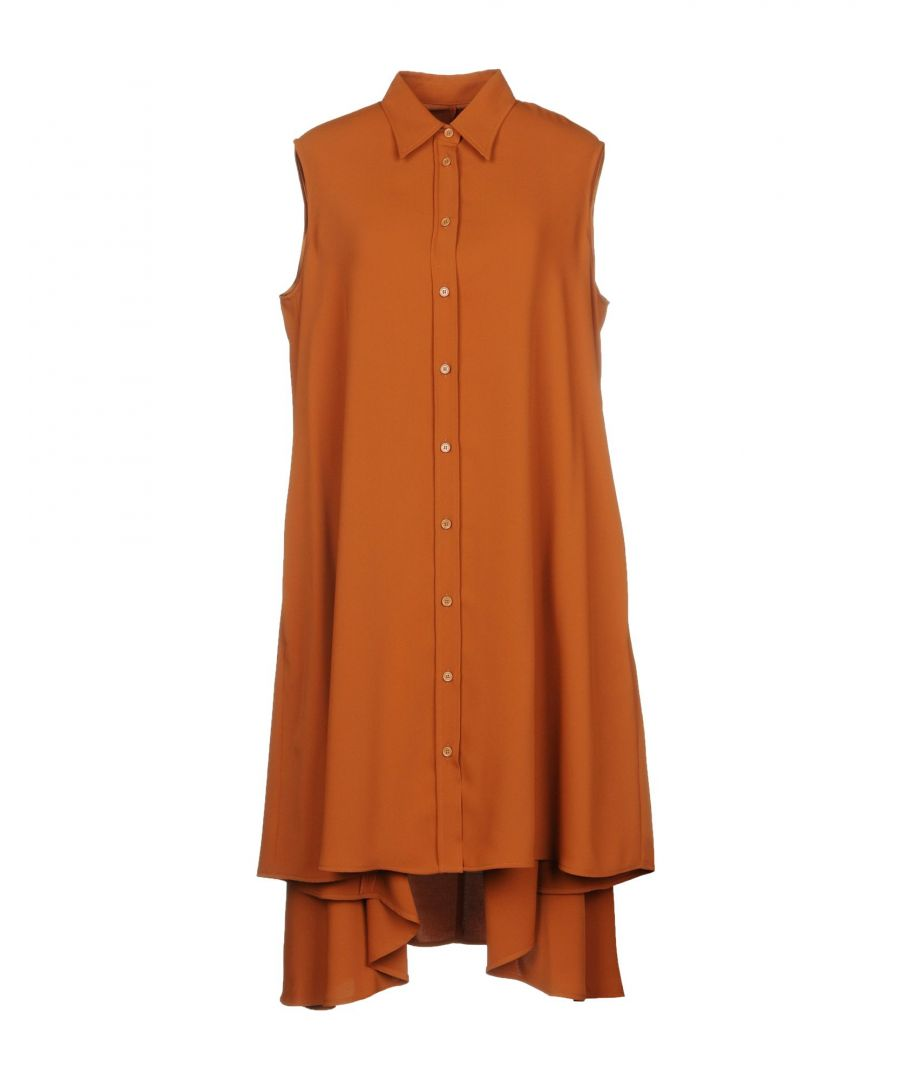 Image for MM6 Maison Margiela Brown Sleeveless Shirt Dress