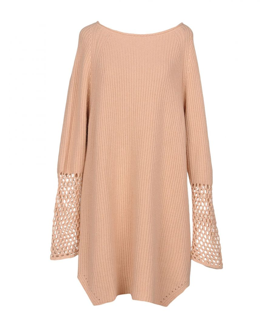 Image for Twinset Pale Pink Knitted Wool Long Sleeve Dress