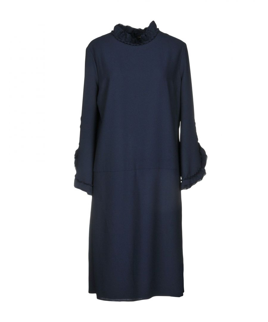 Image for Alessandro Dell'Acqua Dark Blue Long Sleeve Dress