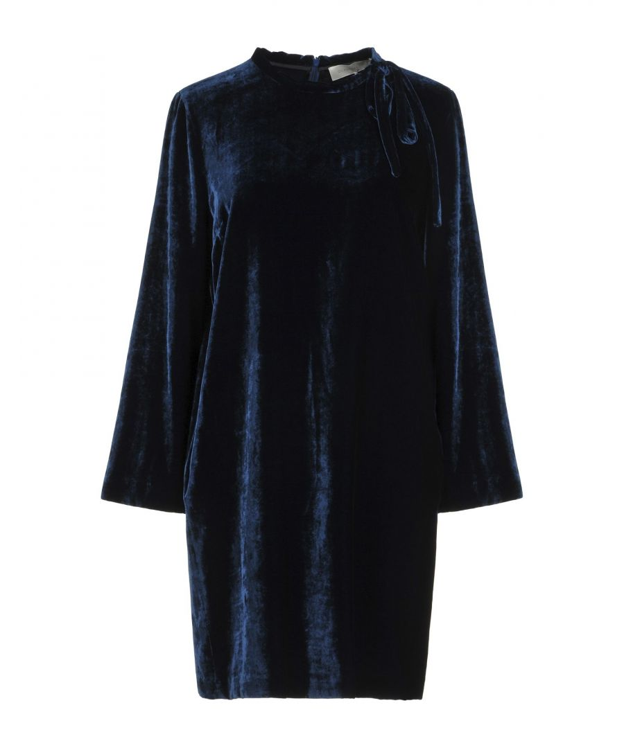 Image for L' Autre Chose Dark Blue Velvet Dress