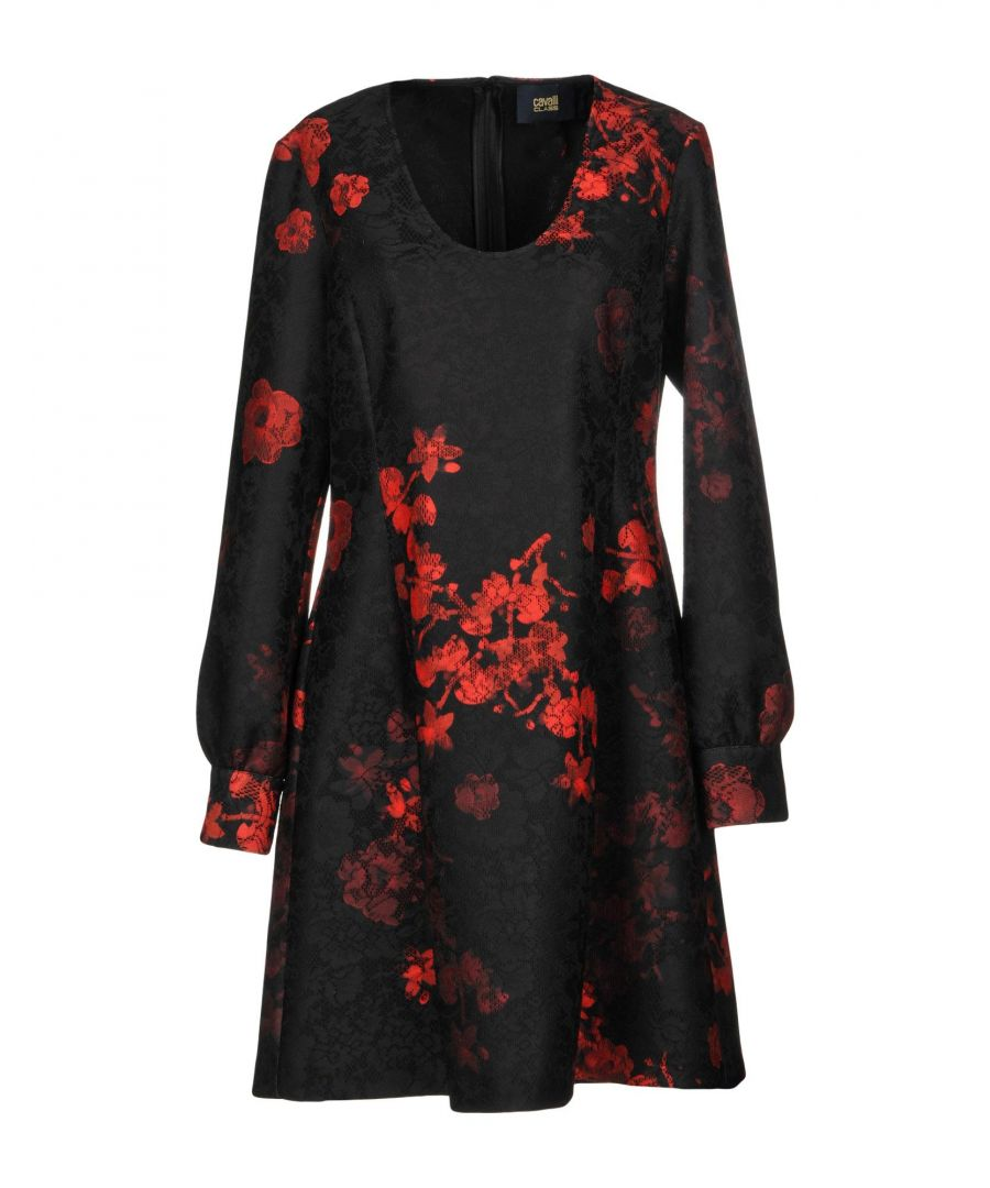 Image for Cavalli Class Black Print Long Sleeve Dress