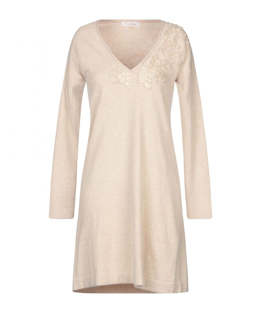 Image for Twinset Underwear Beige Knit Long Sleeve Dress