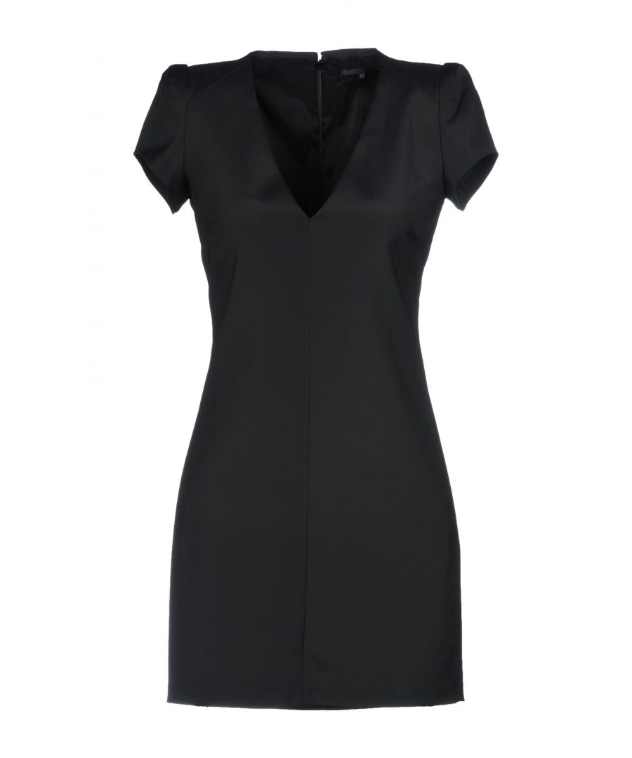 Image for Patrizia Pepe Sera Black Short Sleeve Dress