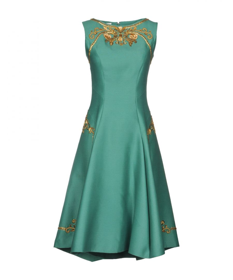 Image for Alberta Ferretti Green Beaded Sleeveless Dress