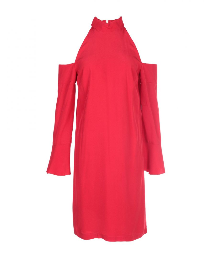 Image for Pinko Red Cold Shoulder Dress