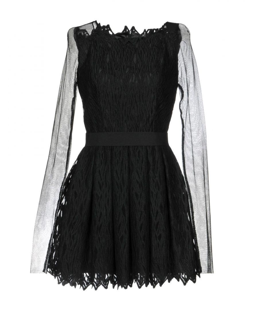 Image for Plein Sud Black Sheer Sleeve Dress