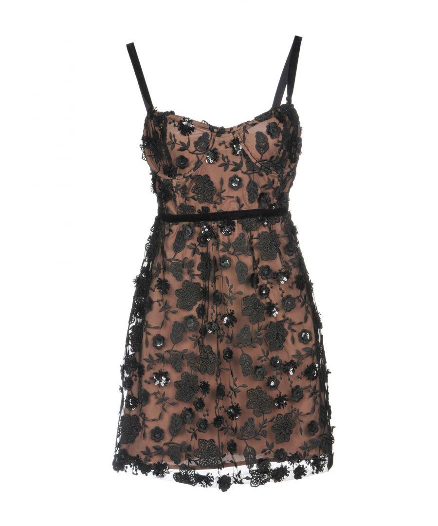 Image for For Love & Lemons Black Embroidered Short Dress
