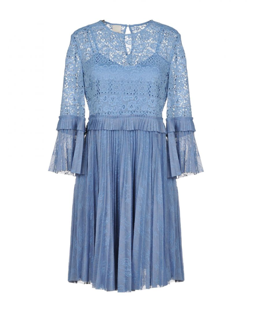 Image for Pinko Sky Blue Long Sleeve Short Dress