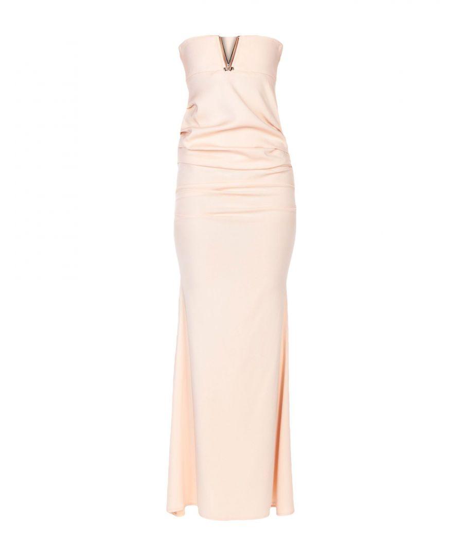 Image for Elisabetta Franchi Pink Crepe Full Length Dress