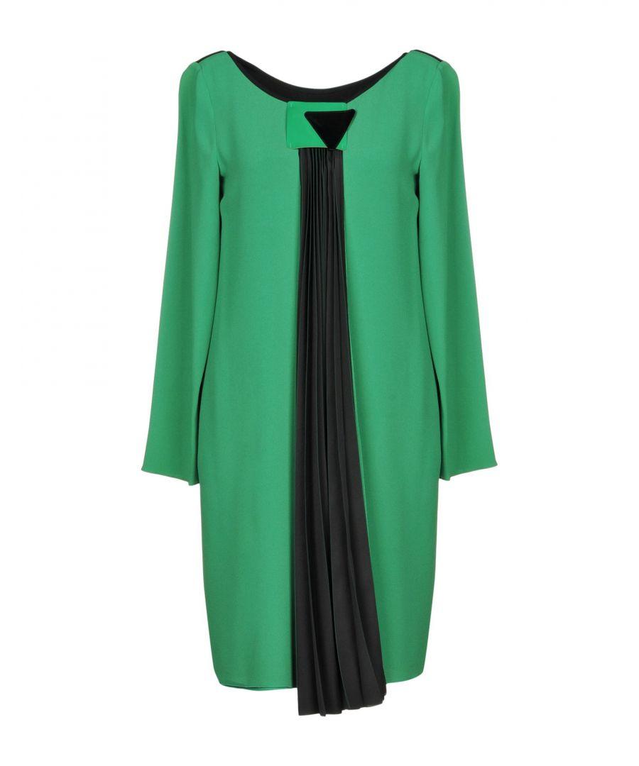 Image for Emporio Armani Green Crepe Long Sleeve Dress