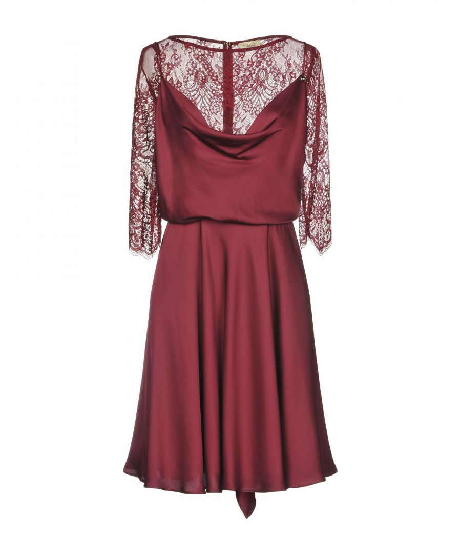 Image for Liu Jo Maroon Lace Sleeve Dress