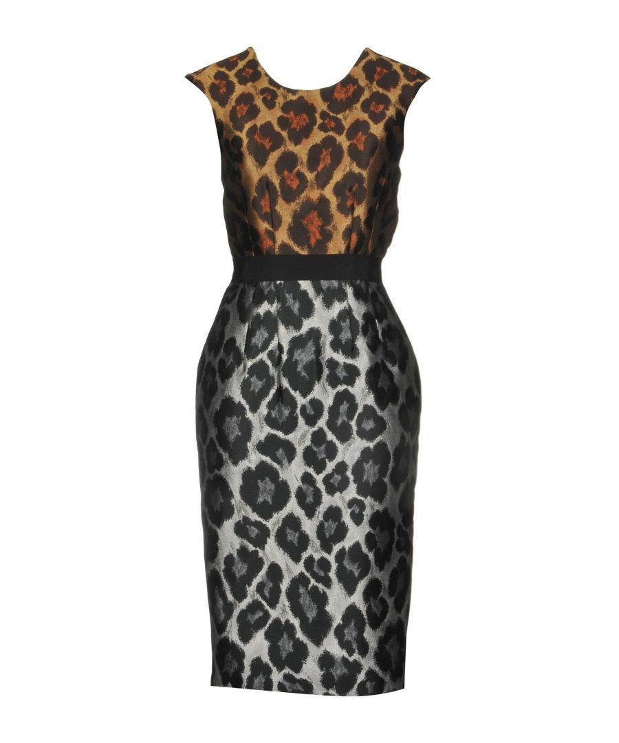 Image for Marco Bologna Khaki Leopard Print Jacquard Dress