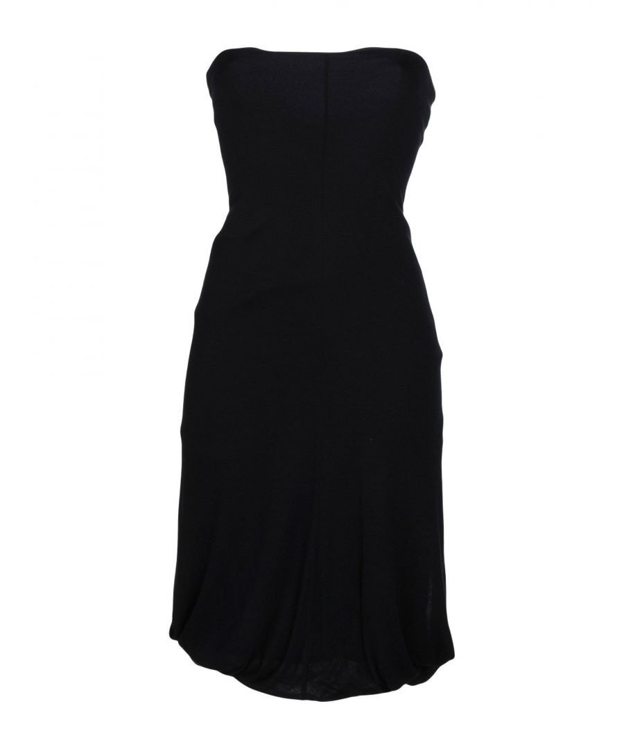 Image for Alessandro Dell'Acqua Black Virgin Wool Draped Neckline Dress