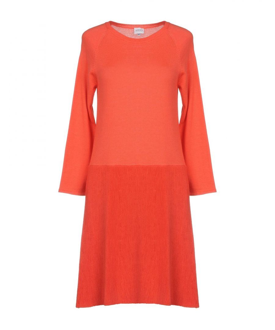 Image for Armani Collezioni Coral Wool Long Sleeve Dress