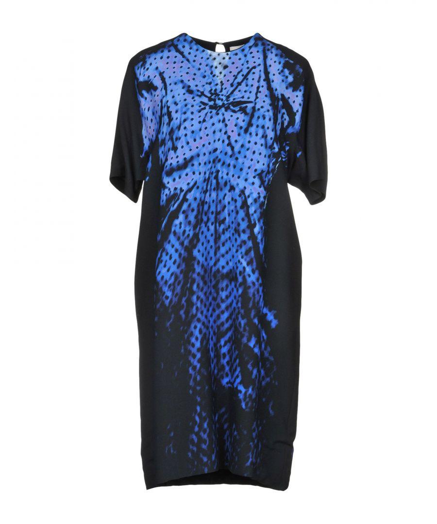 Image for Victoria, Victoria Beckham Blue Short Sleeve Dress
