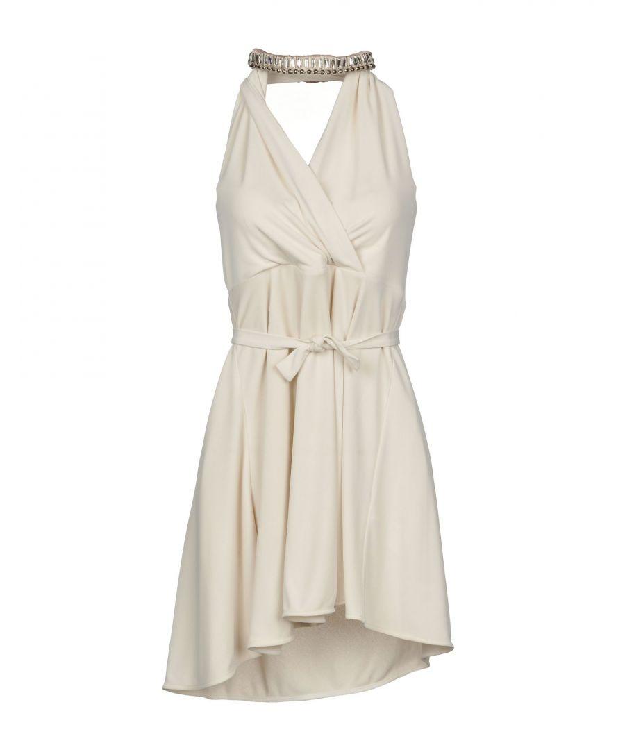 Image for Patrizia Pepe Beige Satin Short Dress