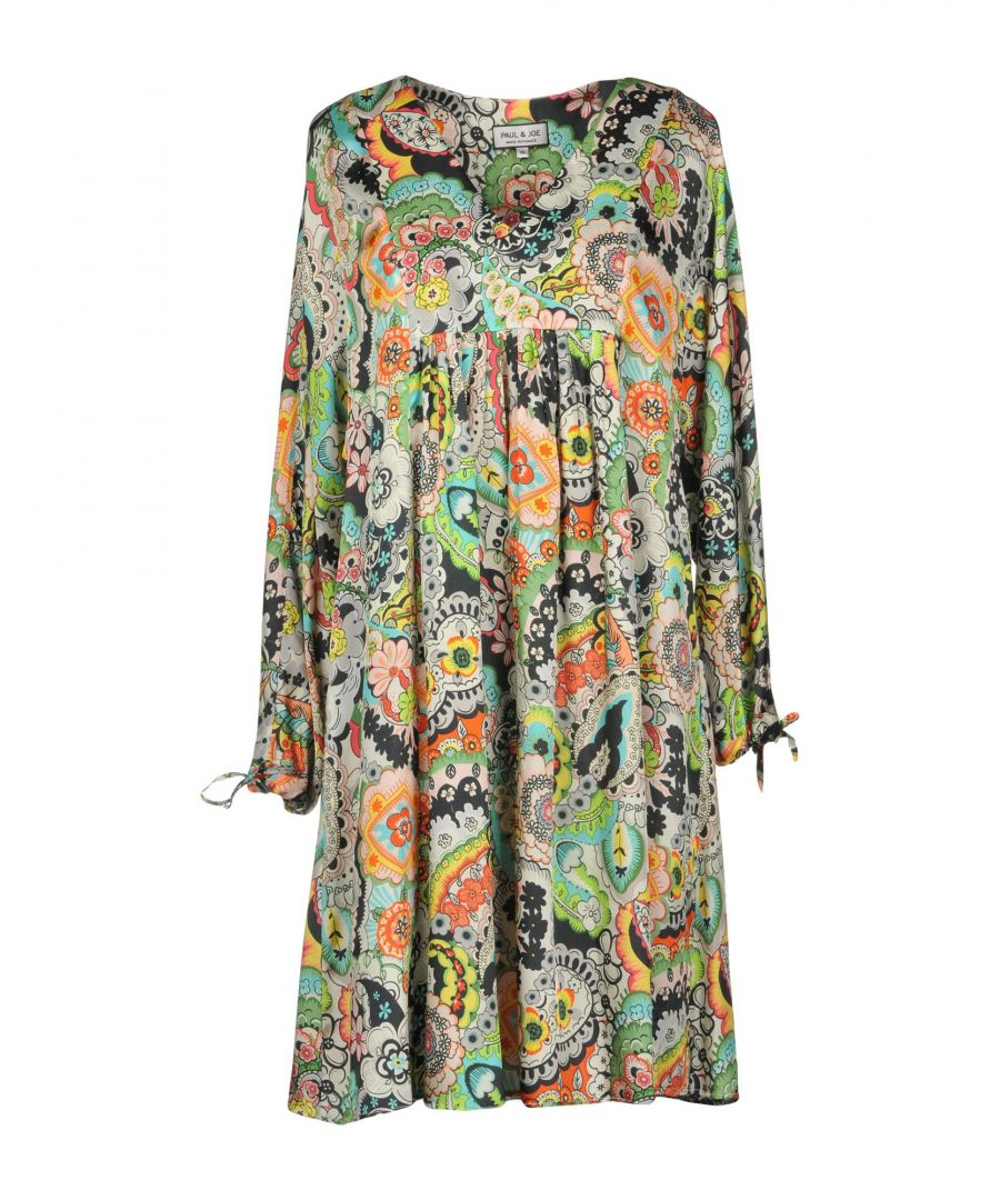 Image for Paul & Joe Green Paisley Print Long Sleeve Dress