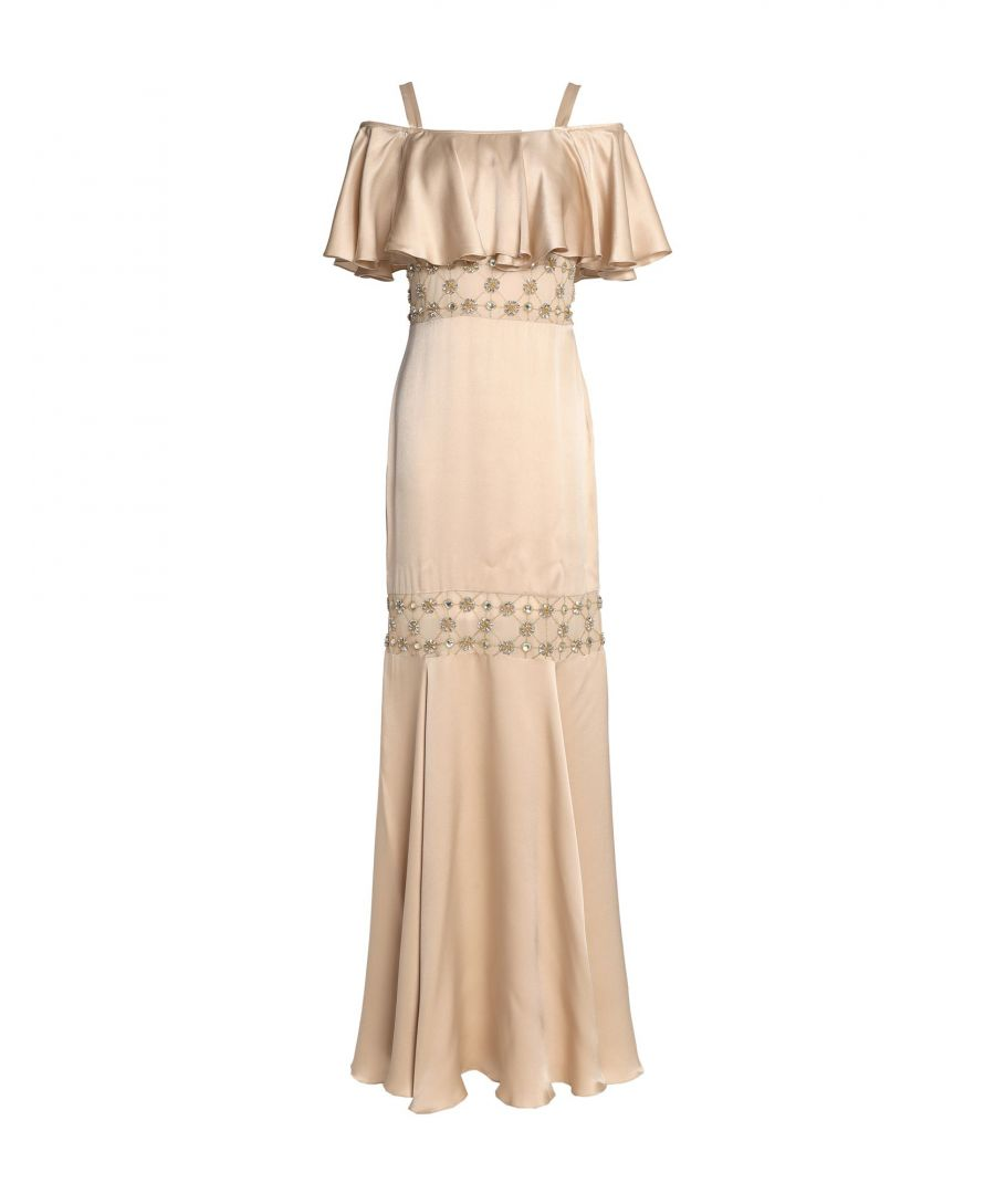 Image for Temperley London Beige Silk Full Length Dress