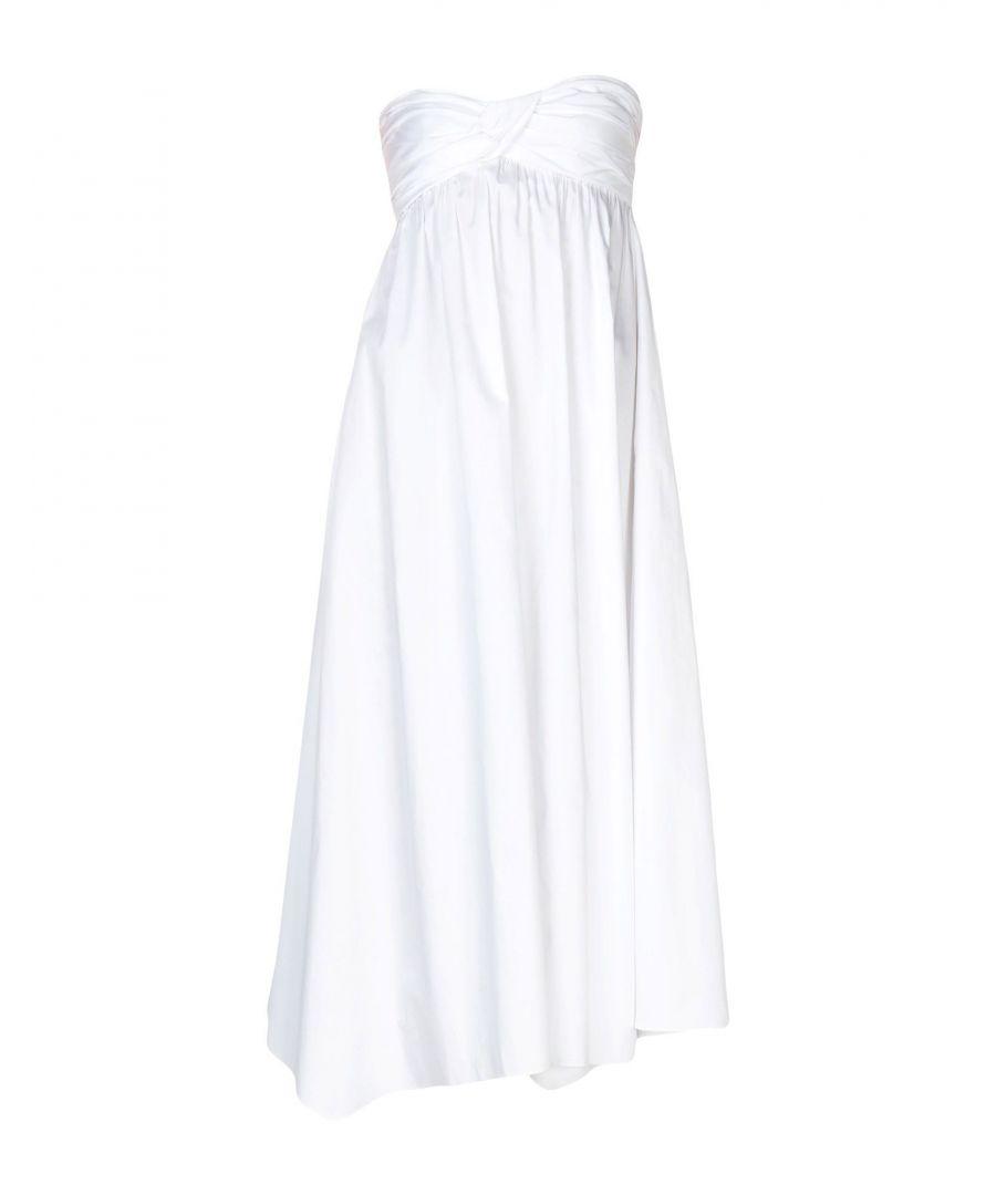 Image for Jil Sander Navy White Cotton Draped Dress