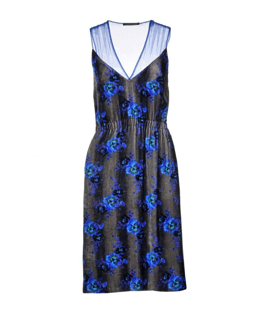 Image for Christopher Kane Blue Floral Design Sleeveless Dress
