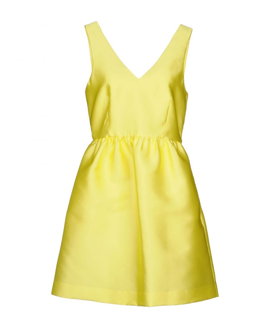 Image for P.A.R.O.S.H. Yellow Satin Short Dress
