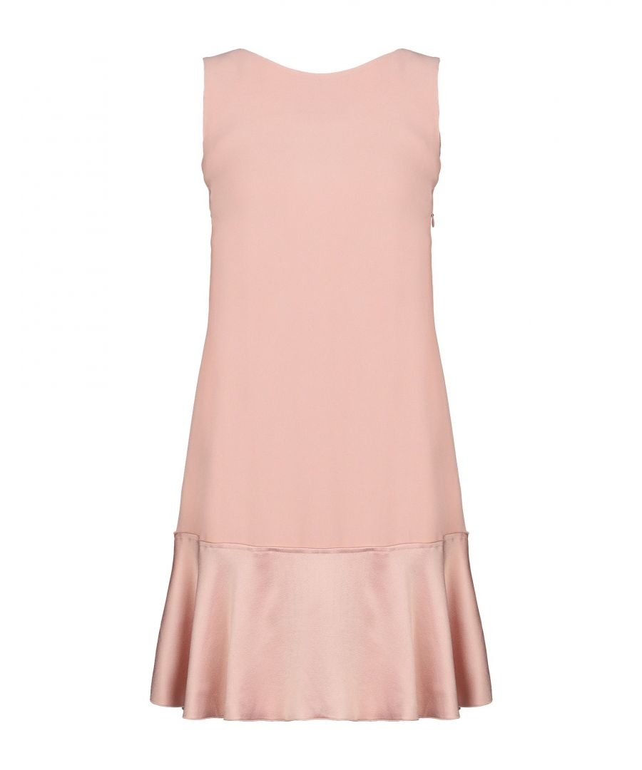 Image for Theory Light Pink Satin And Crepe Sleeveless Dress