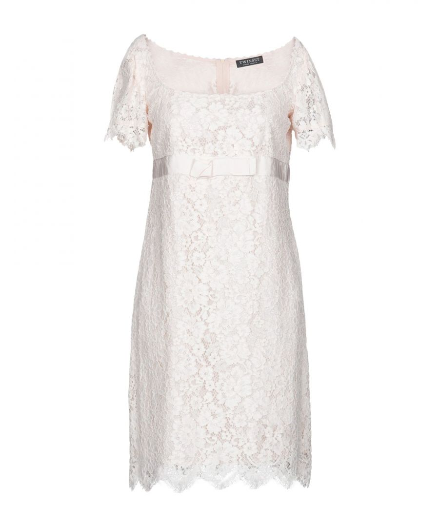 Image for Twinset Light Pink Cotton Lace Dress