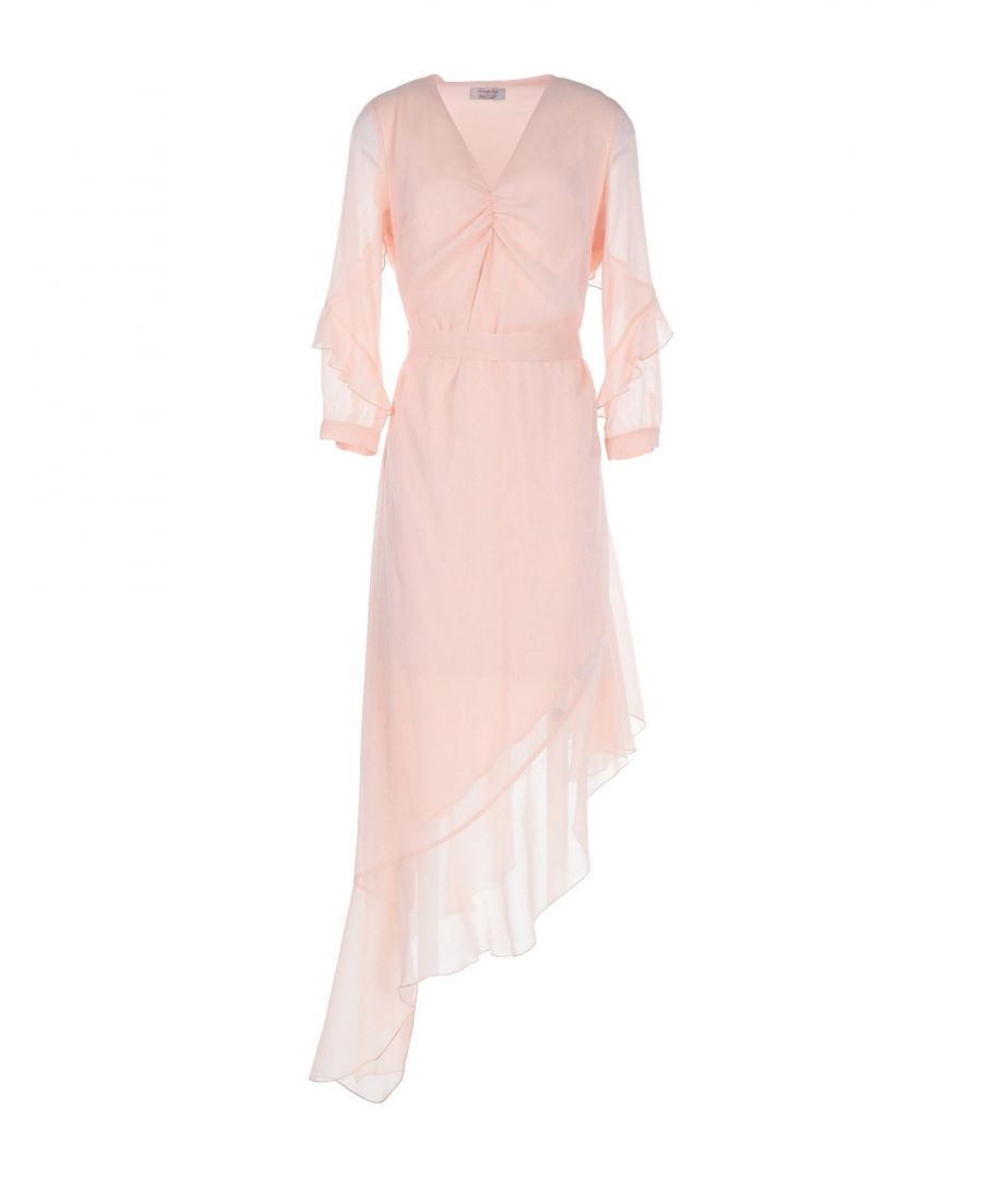 Image for Twenty Easy By Kaos Light Pink Crepe Belted Dress