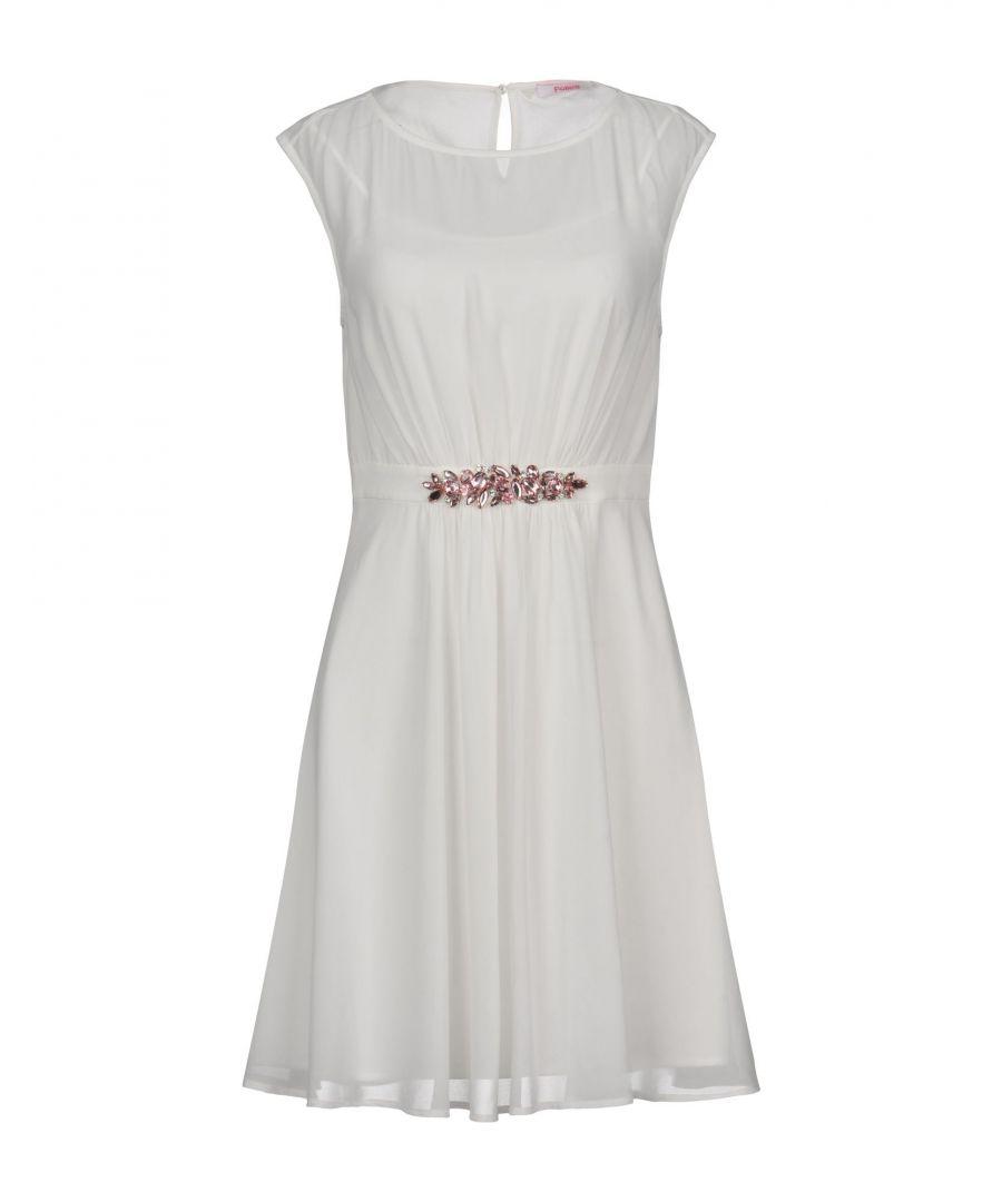 Image for Blugirl Blumarine White Crepe Embellished Sleeveless Dress