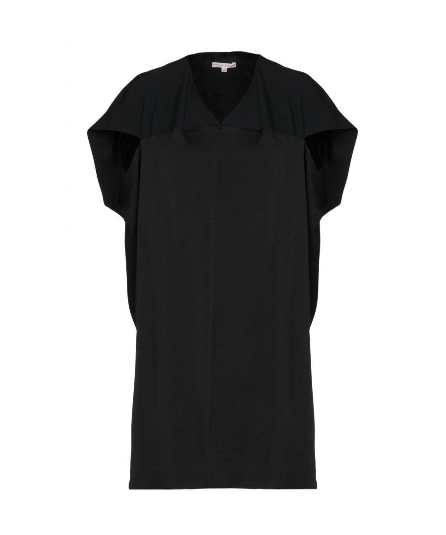 Image for Brian Dales Black Crepe V Neck Dress