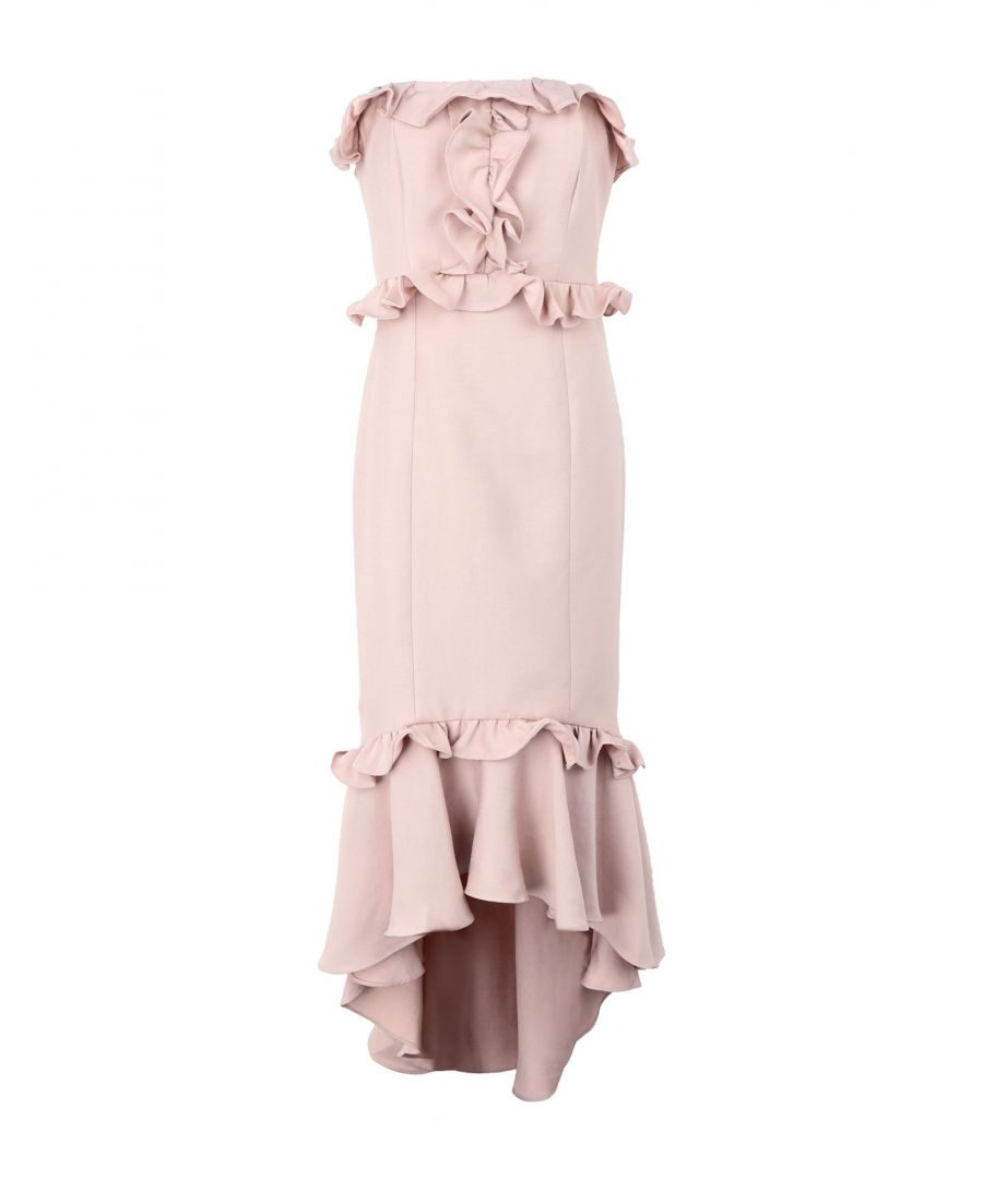 Image for C/Meo Collective Pale Pink Ruffle Strapless Dress
