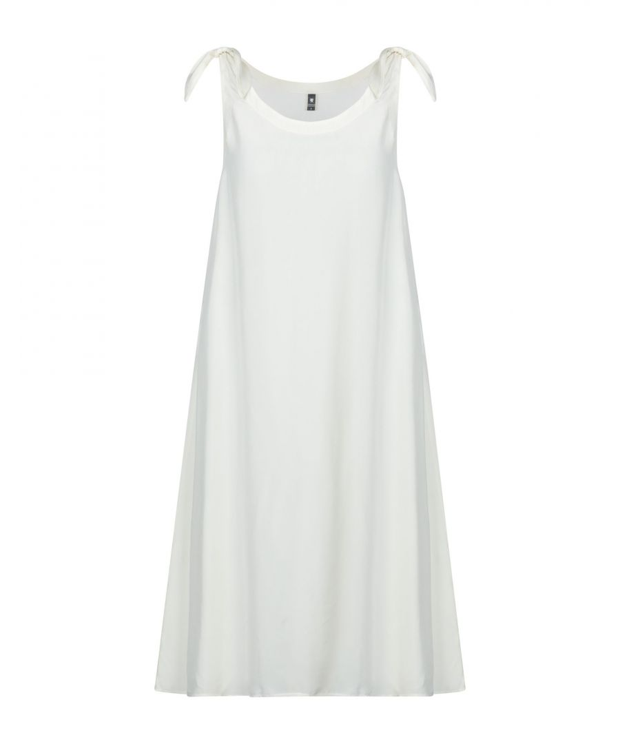 Image for European Culture Ivory Satin Trapeze Style Dress