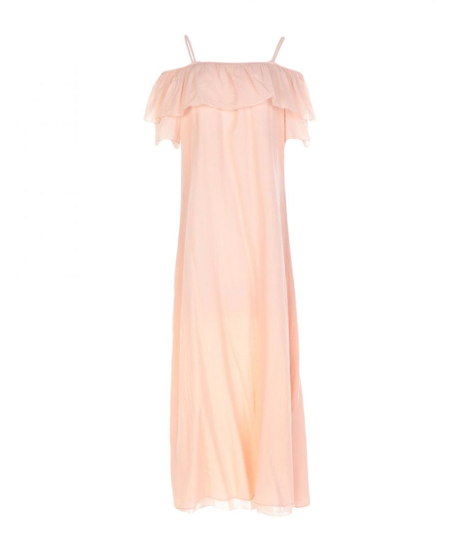Image for European Culture Apricot Cotton Full Length Dress