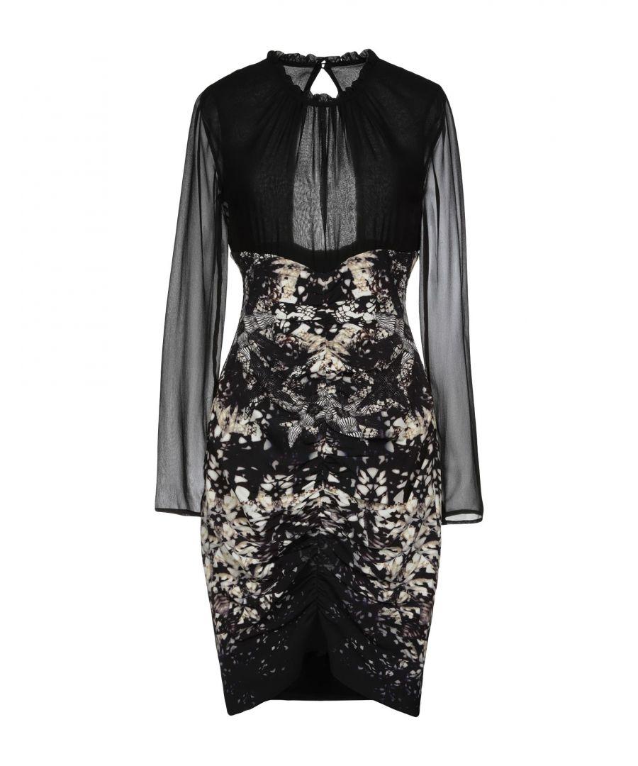 Image for Roberto Cavalli Black Jersey Long Sleeve Dress