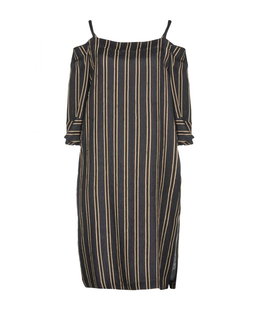 Image for Paul & Joe Black Stripe Silk Dress