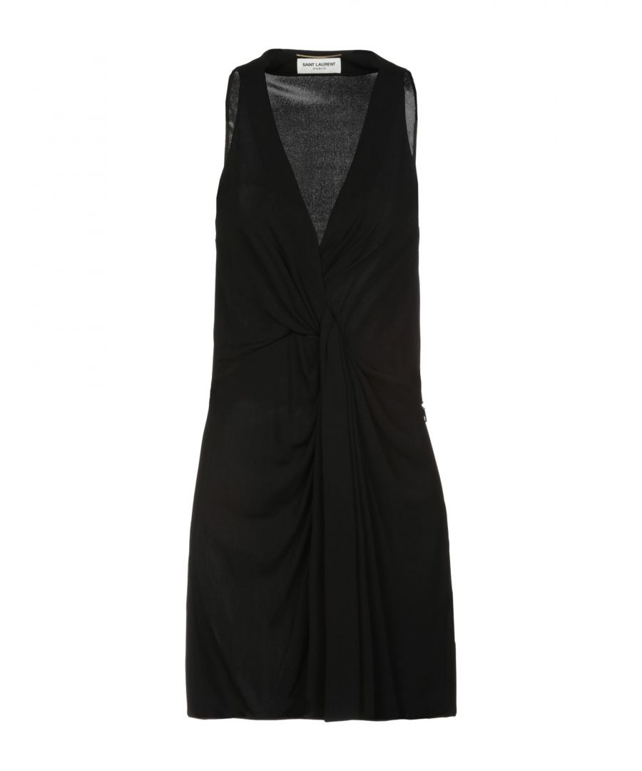 Image for Saint Laurent Black Jersey Sleeveless Dress