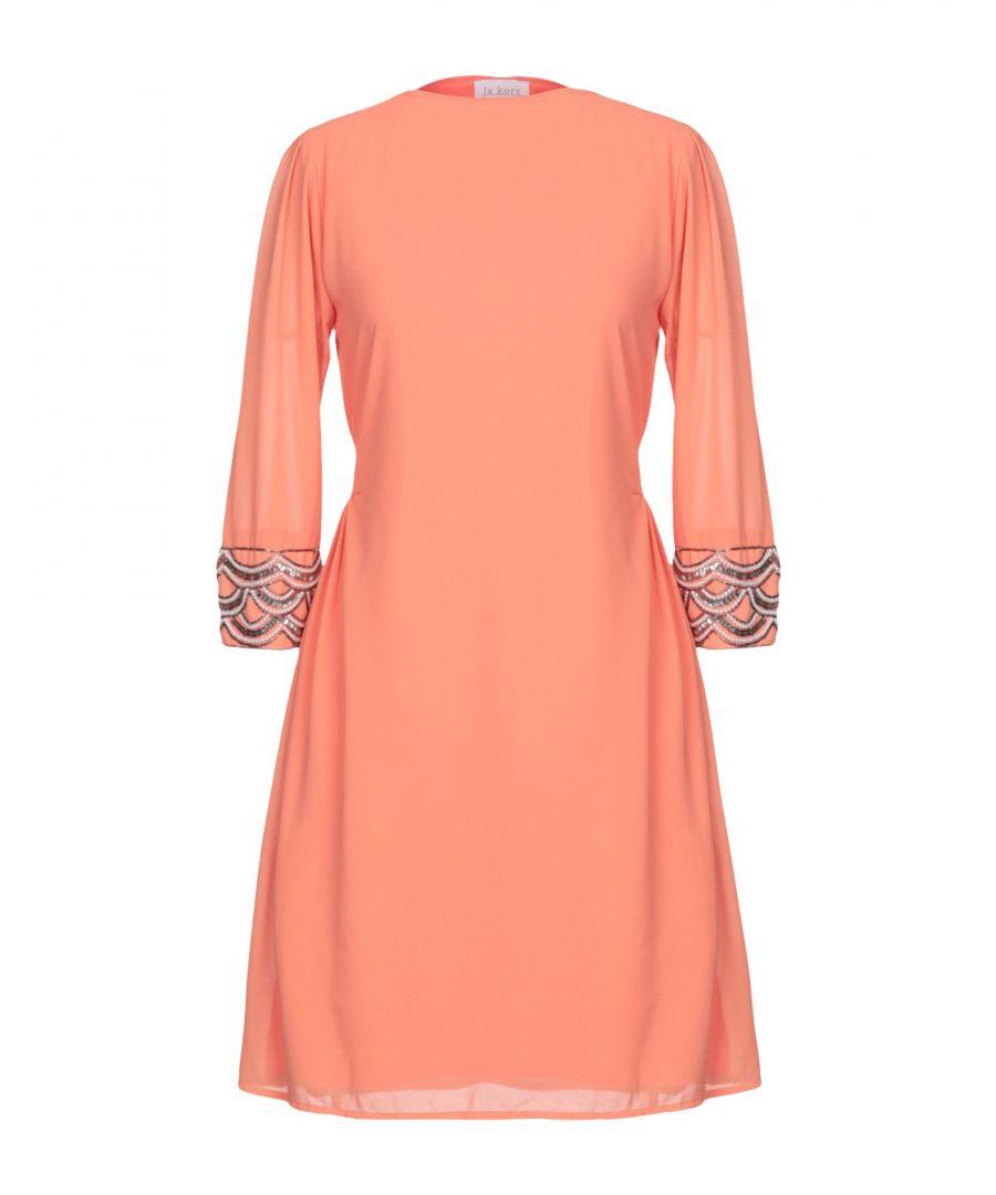 Image for La Kore Salmon Pink Embellished Dress