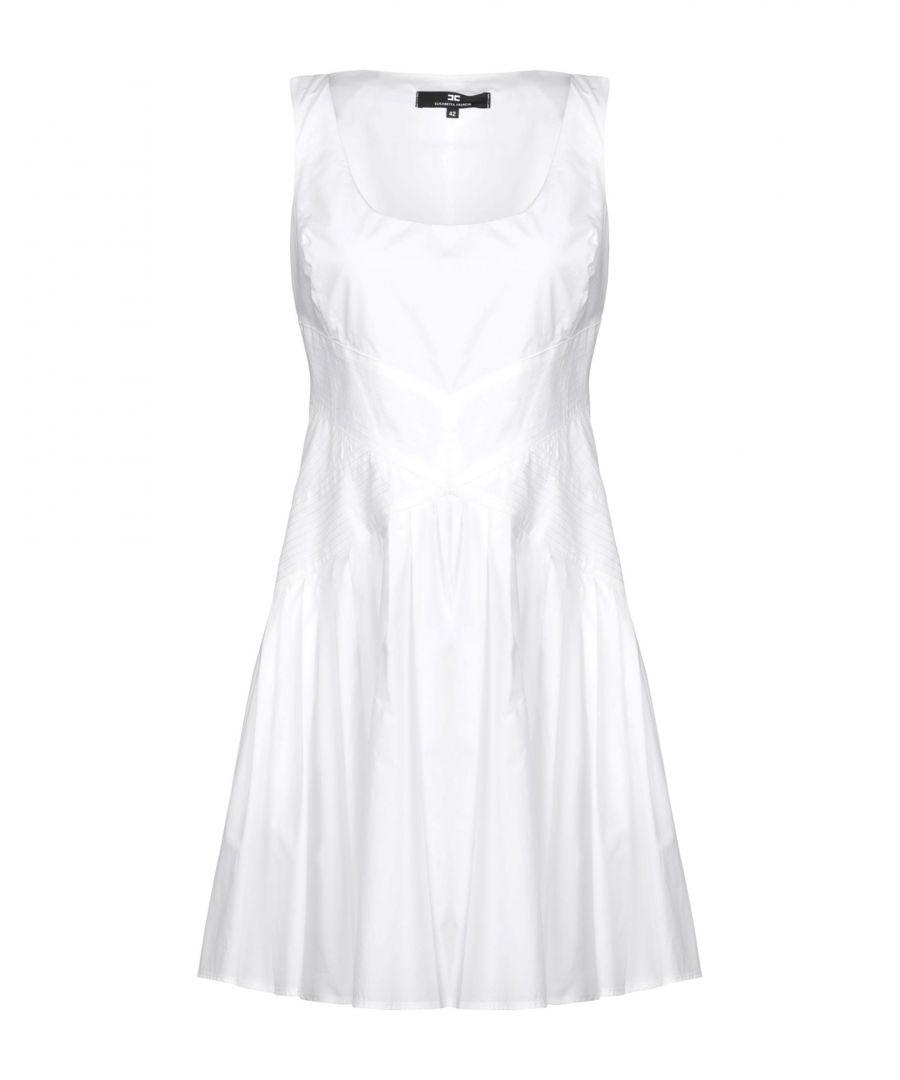 Image for Elisabetta Franchi White Cotton Short Dress