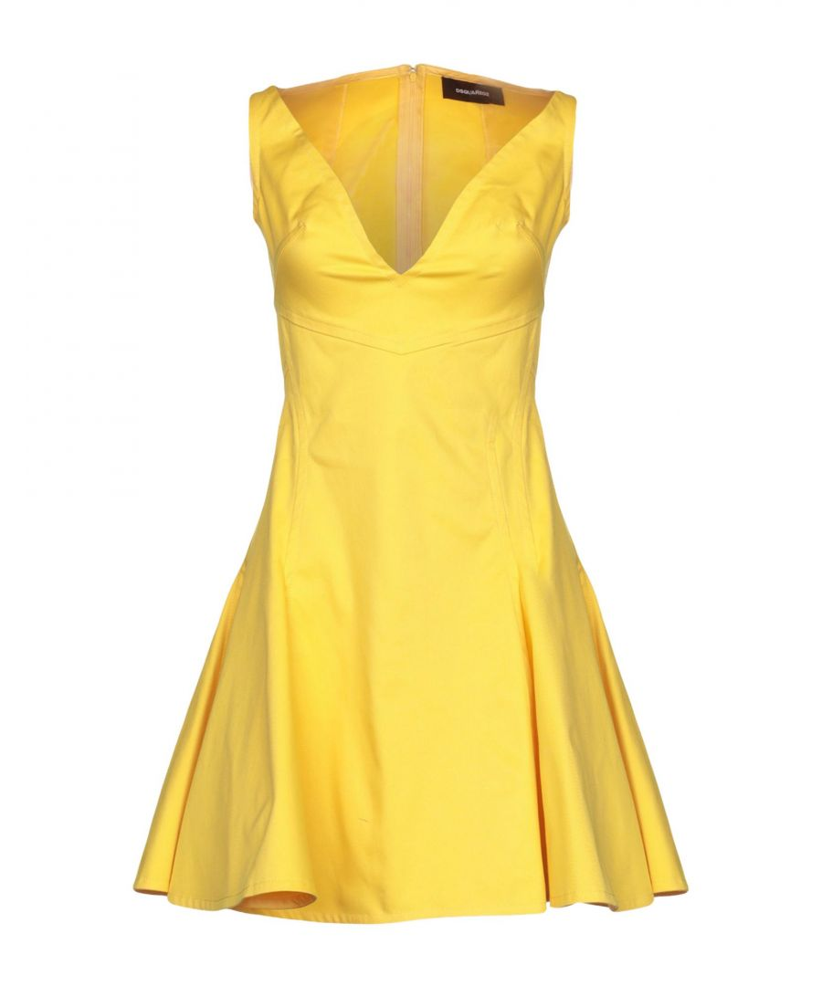 Image for Dsquared2 Yellow Cotton Sleeveless Dress