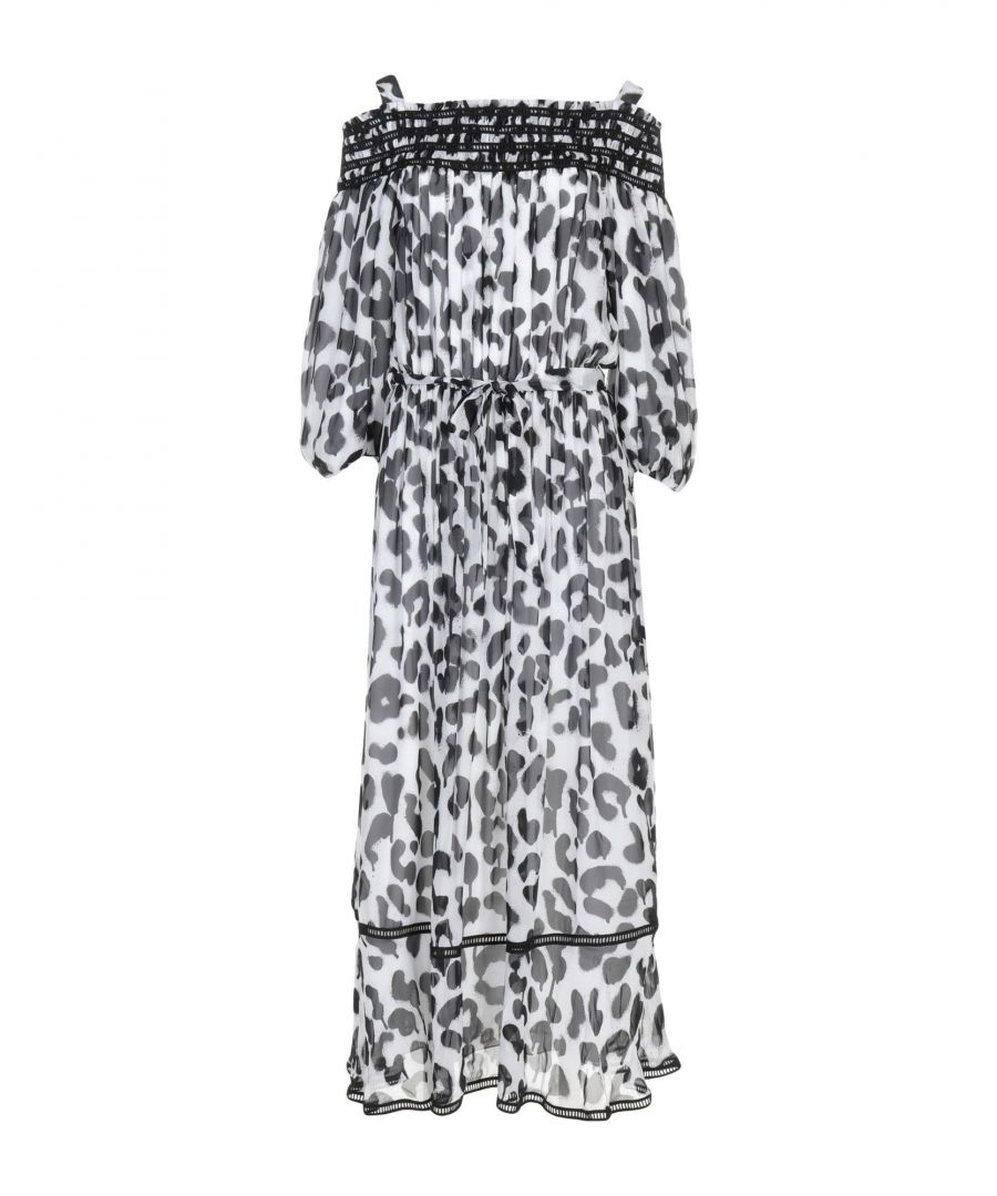 Image for Boutique Moschino White Print Silk Dress