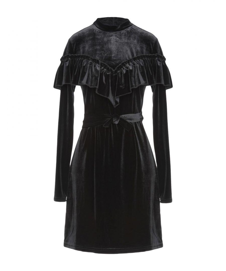 Image for Gestuz Black Chenille Long Sleeve Dress