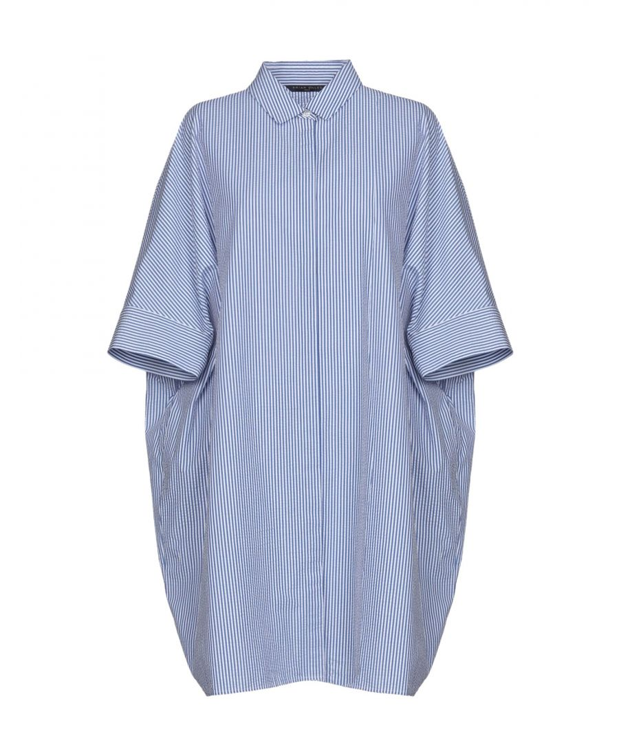 Image for Brian Dales Blue Cotton Shirt Dress