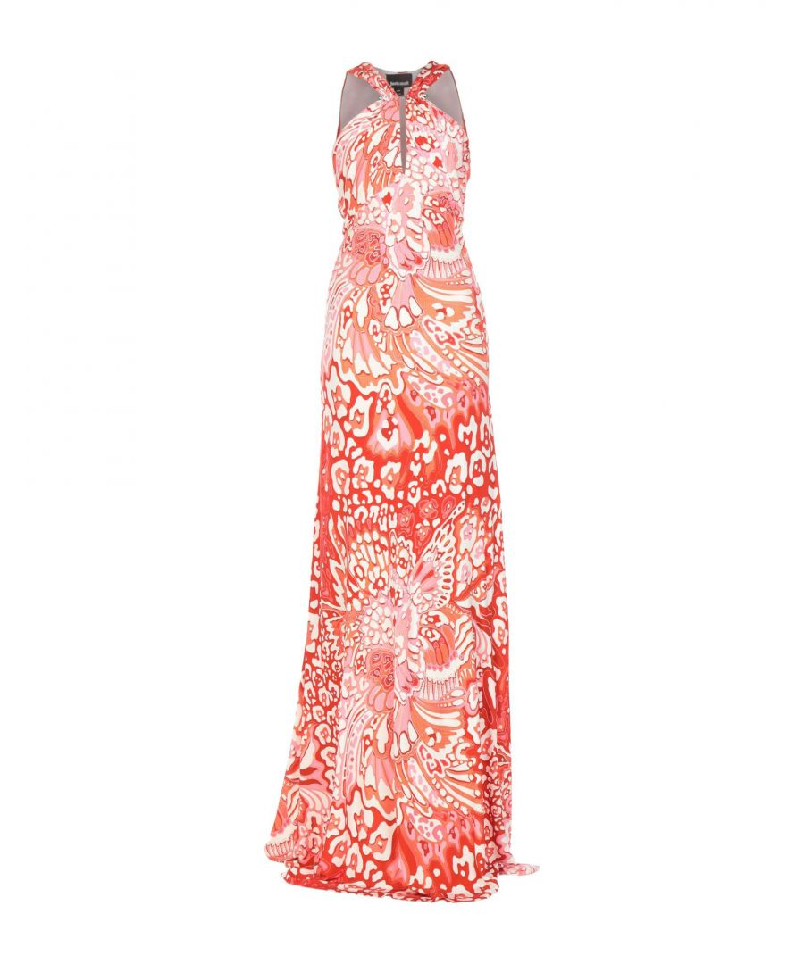 Image for Just Cavalli Red Print Full Length Dress