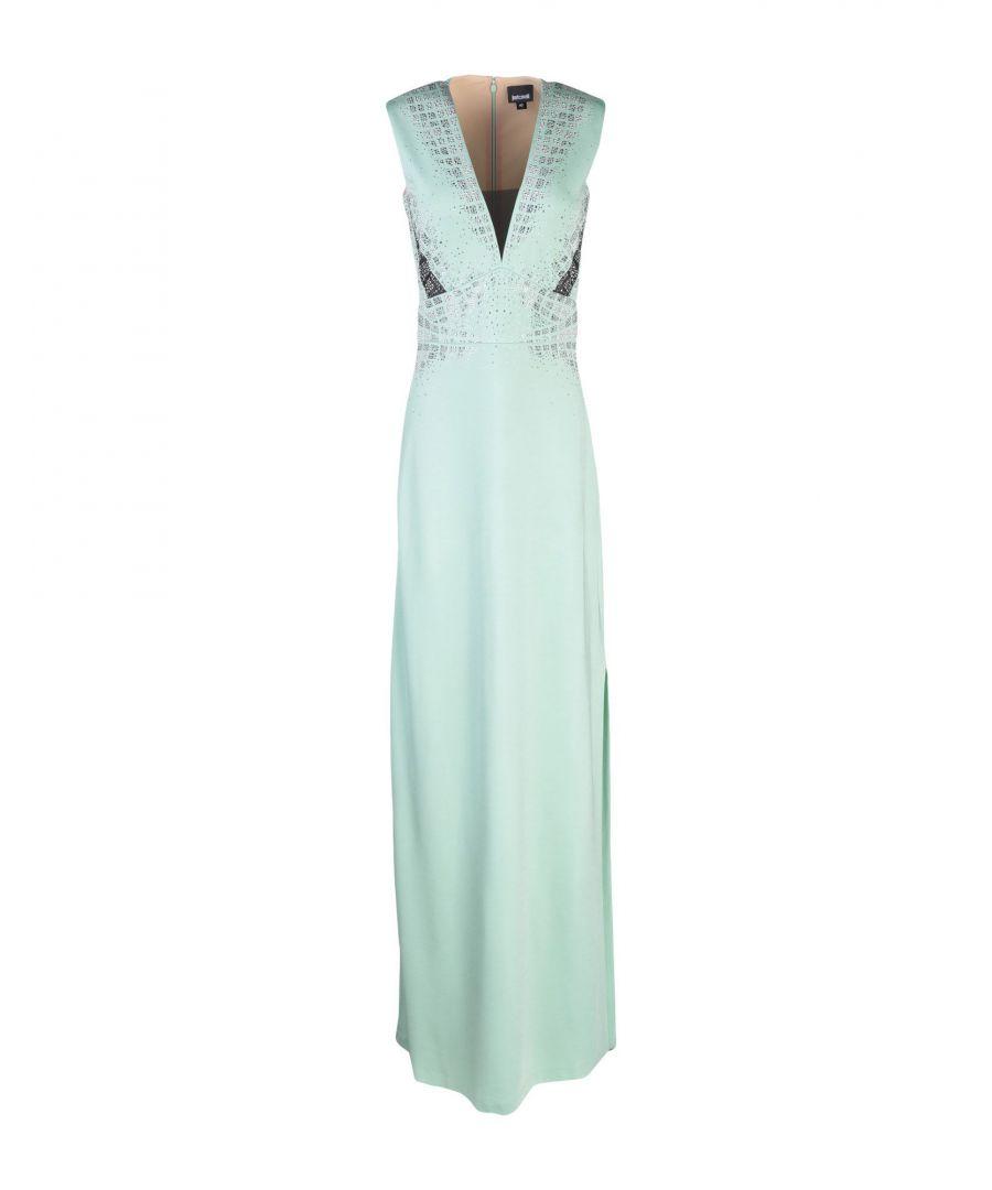 Image for Just Cavalli Light Green Tulle Embellished Full Length Dress