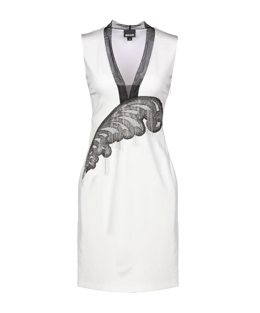 Image for Just Cavalli White Sleeveless Dress