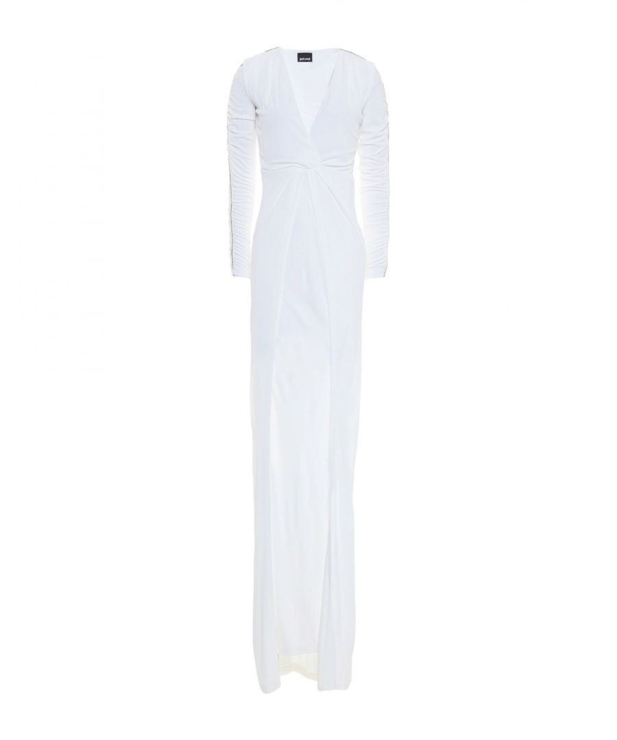 Image for Just Cavalli White Long Sleeve Full Length Dress
