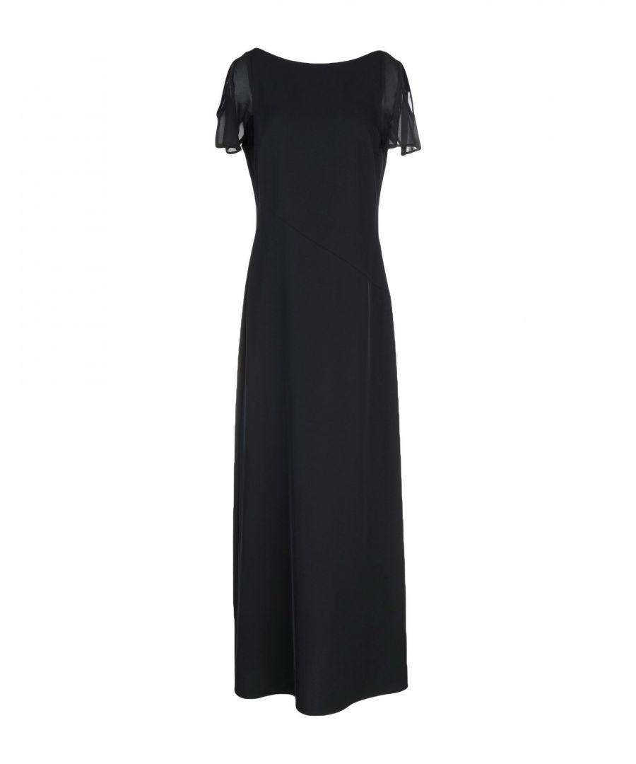 Image for Brian Dales Black Crepe Full Length Dress