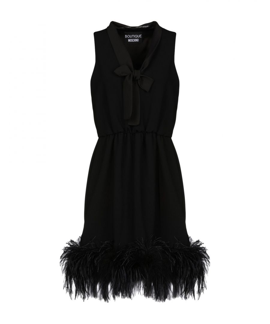 Image for Boutique Moschino Black Crepe Dress