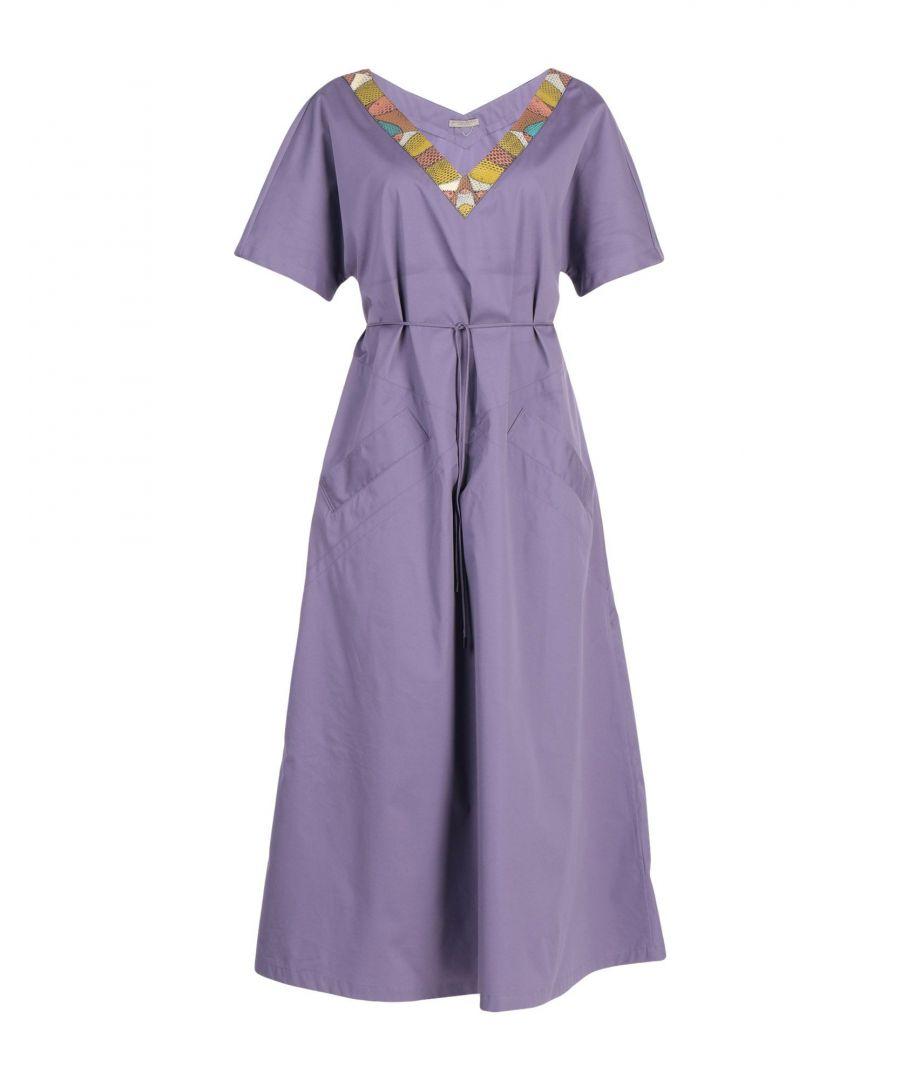 Image for DRESSES Woman Bottega Veneta Purple Cotton